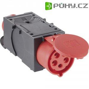 CEE adaptér PCE, 9437420, zástrčka 16 A ⇒ zásuvka 32 A, IP44, červená/černá