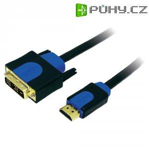 HDMI LogiLink, DVI kabel, zástrčka/zástrčka, 18+1pol., černý 10 m