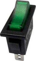 Kolébkový spínač SCI R13-91B-01 s aretací 250 V/AC, 10 A, 1x vyp/zap, černá, zelená, 1 ks
