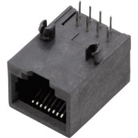 Konektor do DPS BEL Stewart Conn. SS64800-010F, zásuvka vestavná horiz., Snap-In, černá
