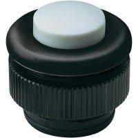 Zvonkové tlačítko Grothe Protact 61031, max. 24 V/1,5 A, černý plast