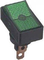 Vypínač kolébkový ON-OFF 1pol.12V/20A,zelený