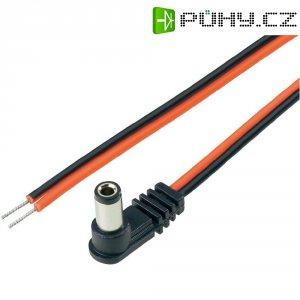 Napájecí kabel zástr. / otevřený konec BKL 072019, úhlová, 5,5/2.5 mm, 2 m, červená/černá