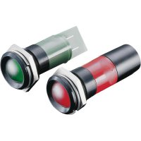 LED signálka CML, vnitřní reflektor, 24 V/DC, zelená