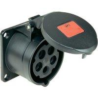 CEE zásuvka Twist 315-6ttx PCE, 16 A, IP44, černá