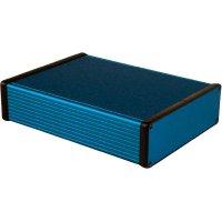 Univerzální pouzdro hliníkové Hammond Electronics, (d x š x v) 220 x 165 x 51,5 mm, modrá