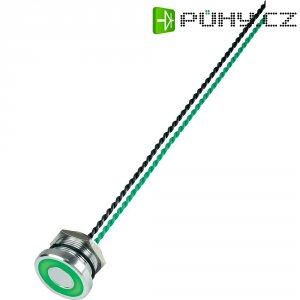 Piezo tlačítko, 24 V DC/AC, 0,2 A, IP 68, PS225P10Y01G24L, zelená LED, ploché