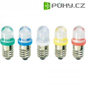 LED žárovka E10 Barthelme, 59101214, 12 V, modrá