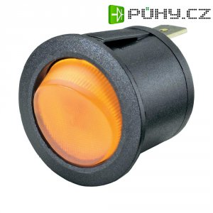 Kolébkový spínač R13-223B-01 žlutý 250VAC