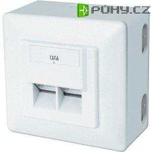 Síťová zásuvka pro povrchovou montáž CAT 6 Digitus, DN-9006/B5-N, 2x RJ45, bílá