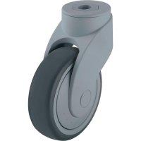 Otočné plastové kolečko Wave se závitem pro šroub, Ø 125 mm, Blickle 743102