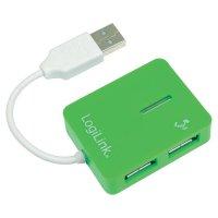 USB 2.0 hub LogiLink UA0138, 4 porty, zelená