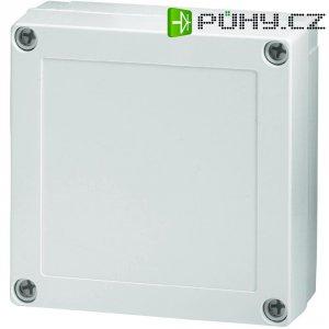Polykarbonátové pouzdro MNX Fibox, (d x š x v) 130 x 130 x 50 mm, šedá (MNX PC 125/50 LG)