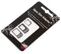 Adapter SIM karet 4v1 z nanoSIM na microSIM a miniSIM do iPhone