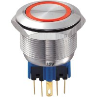 Tlačítko chráněné proti vandal25 mm s kruhovým osvětlením