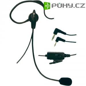 Headset s mikrofonem s husím krkem