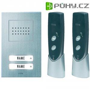 Bezdrátový domácí telefon m-e ADF-620, 2 rodiny, 200 m, stříbrná/antracit