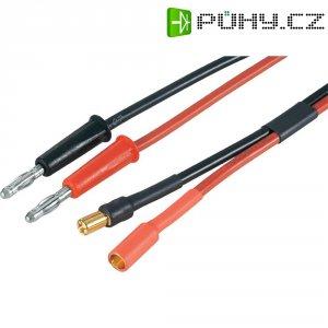 Napájecí kabel s bánanky 5,5 mm zásuvka/zástrčka Modelcraft, 250 mm, 2,5 mm²