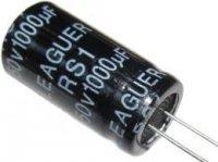 1000u/50V 105° 13x25x7,5mm, elektrolyt.kondenzátor radiální