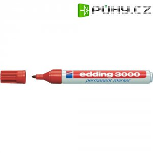 Trvanlivý popisovač edding 3000 - červená