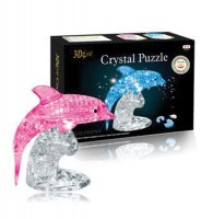 Hlavolam 3D krystal puzzle Delfín