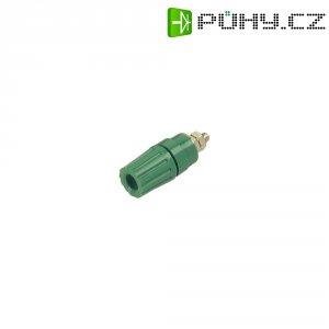 Pólová svorka SKS Hirschmann PKI 110 (931714104), (Ø x d) 14 x 42 mm, zelená