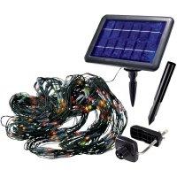 Solární světelná síť, 200 barevných LED