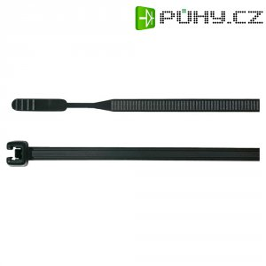 Stahovací pásky Q-serie HellermannTyton Q30R-PA66-BK-C1, 160 x 3,6 mm, 100 ks, černá