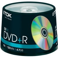 TDK DVD+R 4,7GB 16X 50 ks cakebox