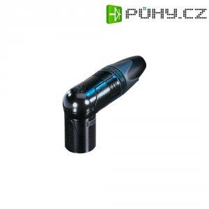 XLR kabelová zástrčka Neutrik NC 3 MRX-B, úhlová, 3pól., 3,5 - 8 mm, černá