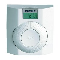 Pokojový termostat s LCD Eberle Digistat+, 5 - 30 °C, bílá