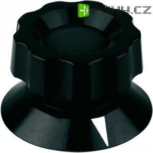 Plastový knoflík s kleštinovým uchycením Mentor 474.81, 8 mm, černá