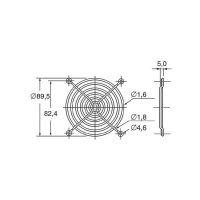 Ochranná mřížka ventilátoru Panasonic ASFN98001, 92 mm x 92 mm