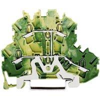 Svorka pro ochranný vodič Wago 2002-2207, pružinová, 5,2 mm, zelenožlutá