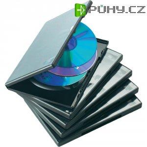 DVD box, 15 mm, 5 ks, černá