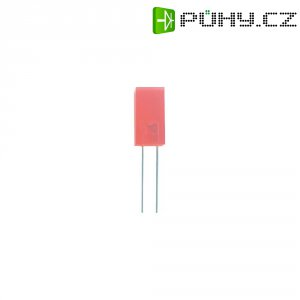 LED dioda hranatá s vývody Kingbright, L-714ID, 20 mA, 3 mm, 2 V, 110 °, 5 mcd, červená