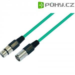 XLR kabel, XLR(F)/XLR(M), 10 m, zelená