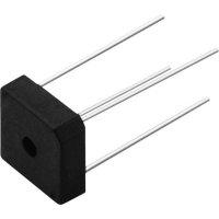 Můstkový usměrňovač Vishay KBPC606, U(RRM) 600 V, U(FM) 1 V, I(F) 6 A, D 72