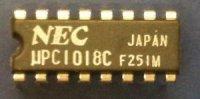 uPC1018C - MF zesilovač AM/FM, DIL16