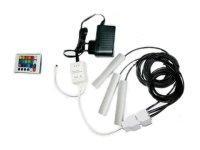 Klips LED na sklo RGB 3x 10 cm + adaptér + dálkové ovládání