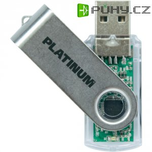 Flash disk Platinum Twister 64 GB transparentní