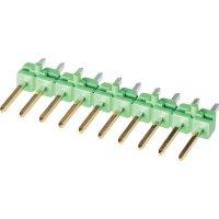 Kolíková lišta MOD II TE Connectivity 825433-7, rovná, 2,54 mm, zelená