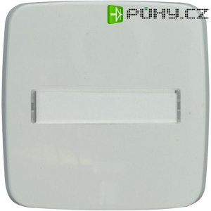 Kryt vypínače se štítkem Monte, 102038, plast, bílá