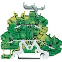 Svorka pro ochranný vodič Wago 2000-2237, se štítkem, pružinová, 3,5 mm, zelenožlutá