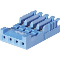 Pouzdro HE14 IDC TE Connectivity 281786-5, zásuvka rovná, AWG 28-26, 2,54 mm, 3 A, modrá