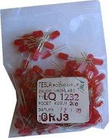 LED 2,5x5mm červená difuzní LQ1232, balení 200ks