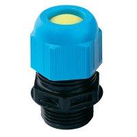Kabelová průchodka Wiska ESKE-L-i 16 10060661, M16, černá RAL 9005/světle modrá RAL 5012