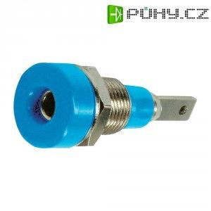 Laboratorní konektor Ø 2 mm MultiContact 23.0030-23, zásuvka vestavná vertikální, modrá