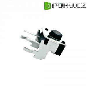 Tlačítko bez aretace TE Connectivity 1825027-5, 24 V/DC, 0.05 A, černá, 1x vyp/(zap)