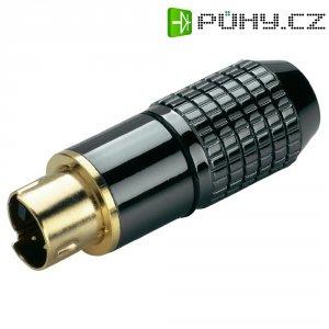 Mini kruhový DIN konektor BKL Electronic 204023, zásuvka rovná, 4pól., černá